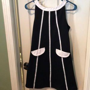 Bonnie Jean black and white sun dress